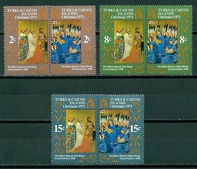 Turks & Caicos Islands Scott #240-245 MNH Christmas 1971 $$