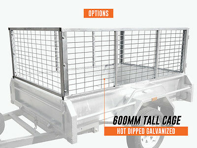 8x5x2ft 600mm Trailer Cage Hot dip Galvanise Melbourne