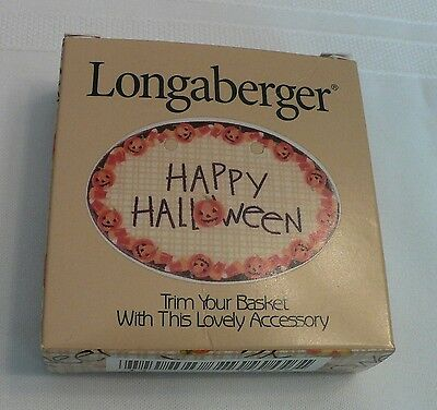1999 Longaberger Happy Halloween Basket Tie-On