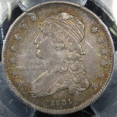 1831 25C Small Letters U.S Old Silver Capped Bust Quarter Coin PCGS XF-45