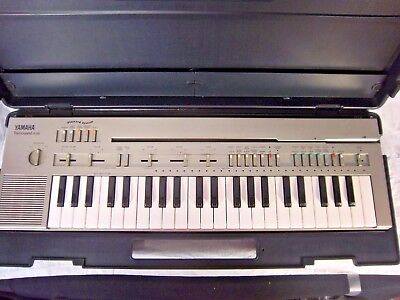 Yamaha Portasound PC-100 Electronic Keyboard With Case And Cables