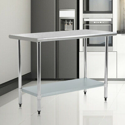 "24"" x 48"" Stainless Steel Work Table Commercial Kitchen Restaurant New 2448"