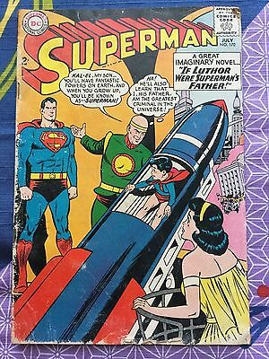 Superman #170 Dc Comic Book Jfk If Luthor Were Superman's Father July