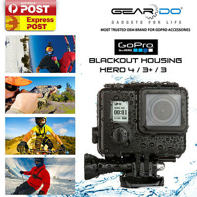 New Blackout Housing Waterproof Case with Brackets for GoPro Hero 4/3+/3