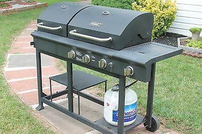 Nexgrill Charcoal And Gas Grill Combo With Side Burner Rare Find Good