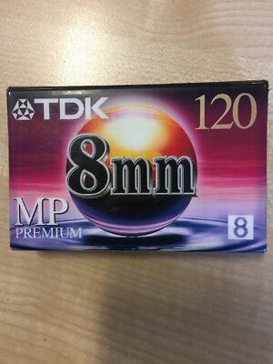 TDK 8mm 120 MP PREMIUM Video Camcorder Tape - New & Sealed