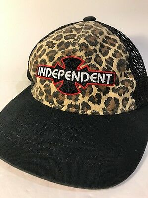 Independent Toddler Kids Baby Trucker Strapback Hat Cap Leopard Print Skateboard