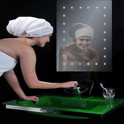 battery operated led illuminated bathroom 600mm mirror ip44 no wiring required 163 34 99