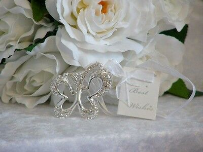 Wedding Diamante Butterfly Good Luck Charm - Bridal Keepsake