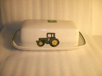 John Deere 2 Pc. Covered Butter Dish Gibson Nothing Runs Like A Deere