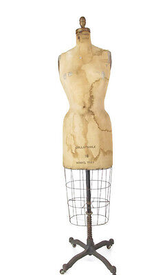 Vintage Wolf Acme Dress Form Mannequin w/ Cage Model 1963 SZ 10 Store Display
