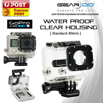 New Waterproof Clear Housing Cover Standard 40MM for GoPro Hero 3/3+/4 Camera