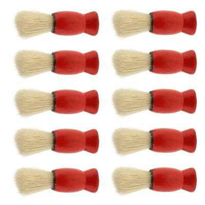 Lot 10 Wood Handle Bristle Shaving Brush for Men Hair Cutting Dust Cleansing