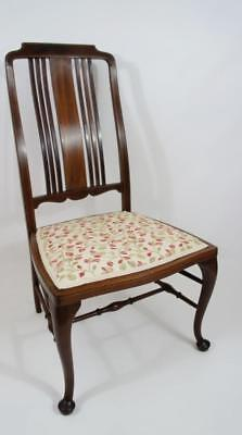 Fine Edwardian inlaid Mahogany  occasional or bedroom chair