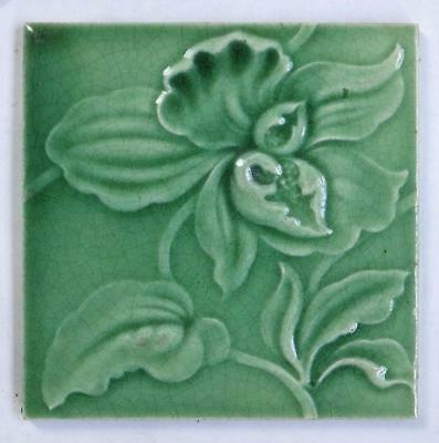 Antique Majolica Art Nouveau Tile  *12 AVAILABLE*