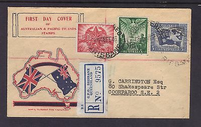 Australia 1946 Peace set of 3 on Standard Stamp Co generic cachet FDC **SCARCE**
