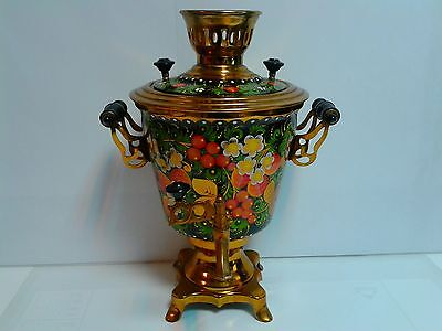 USSR CCCP Russian hand painted Samovar 1989 electric