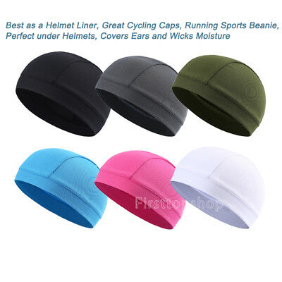 Multi-Color Breathable Quick Drying  Skull Cap Helmet Liner Cycling Running Caps