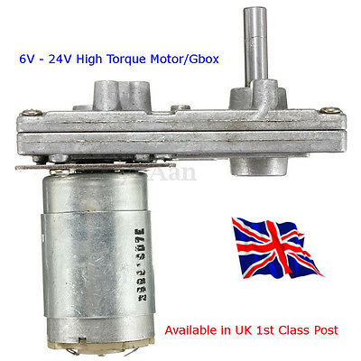 555 Metal Gear Electric Motor 6V - 24V DC Gear Motor High Torque Available in UK