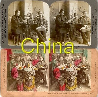 18 new STEREOFOTOS ÜBER CHINA PEKING UM 1900 Serie 8