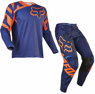 Fox Racing Mens Blue/Orange Legion LT Dirt Bike Offroad Jersey & Pants Kit MX