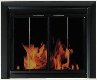 Fireplace Glass Doors Residential Retreat Chesterfield - Black - Free Shipping