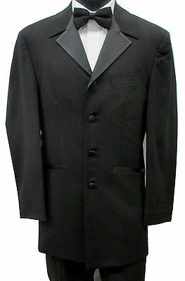 Black Tuxedo Jacket Frock Coat Dickens Costume Retro Pimp Steampunk Cheap!!!