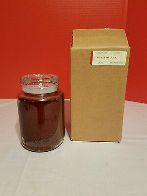 Longaberger 24 OZ Two Wik Jar Candle Cinnamon Stick NIB