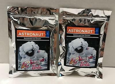 2 packs 2017 Barbie Doll Convention Astronaut Ice Cream Freeze Dried Space Food
