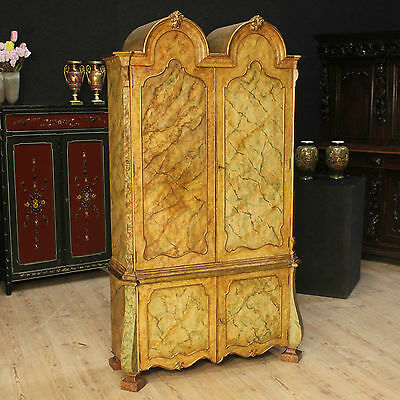 Closet wood lacquered furniture double body bookcase cabinet antique style