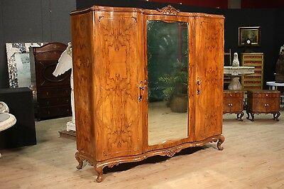 GRANDE CLOSET 3 PANELS REMOVABLE CONVEX NUT BRIAR ITALY PERIOD '900 L 210 cm