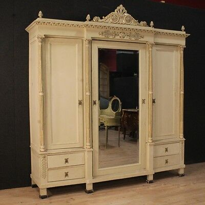 Closet 3 Panels Furniture Stipo Lacquered Wardrobe Style Ancient Louis Xvi Xx