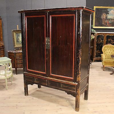 Closet lacquered wardrobe furniture cabinet chinese wooden style antique 900 XX