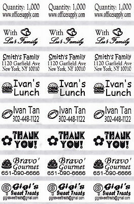 72 CLEAR Personalized Stickers-SCHOOL,DAYCARE,PRE-K,BUSINESS (Buy 5 get 1 FREE)