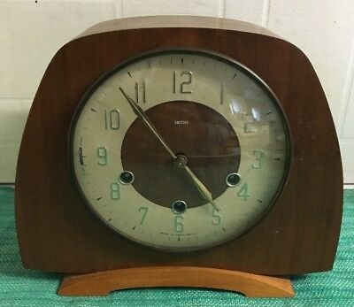 Smiths Westminster Chime Mantel Clock With Key