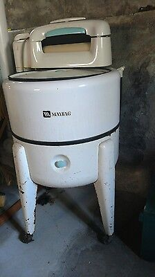 Vintage Maytag Blue Wringer Washer Model # N2L