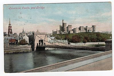 Postcard Inverness Castle and Bridge 1905 R36133