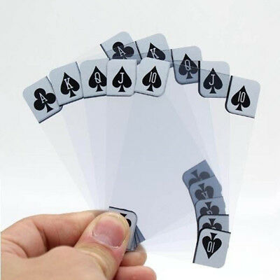 Playing Cards New Resistant Ware Transparent Poker Cards Waterproof Plastic