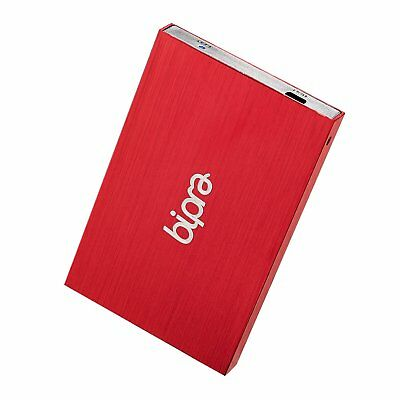 Bipra 500Gb 500 Gb 2.5 Usb 2.0 External Pocket Slim Hard Drive - Red - Fat32 (50