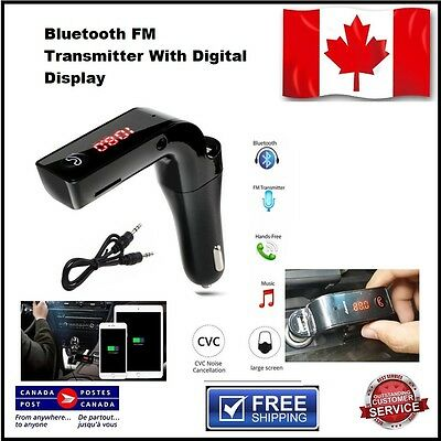Car G7 Bluetooth FM Transmitter4 in 1 Wireless Hands Free Modulator MP3 LCD