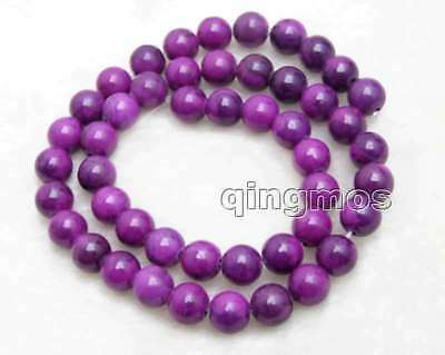 8mm Purple Round Natural Sugilite Loose Beads for Jewelry Making Strand 15''-765