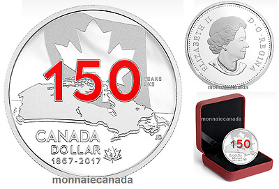 2017 Canada Proof Fine Silver Dollar Red Enamel - Home  Native Land -NO TAX E697