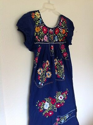 Vintage Mexican Embroidered Puebla Dress