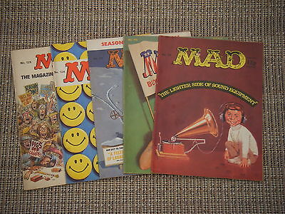 Five Vintage Uk Mad Magazines * Nos 115, 116, 117, 124, 125 *