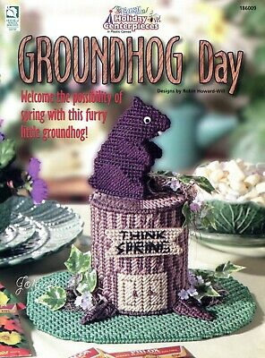 Groundhog Day, Easy Holiday Centerpieces plastic canvas patterns