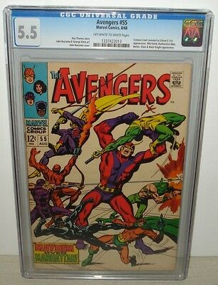 Avengers #55 CGC 5.5 1st Appearance Ultron-5 OW/W Pages 1968 Roy Thomas
