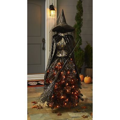 Member's Mark 5' Halloween Witch Dress Form Tree NEW