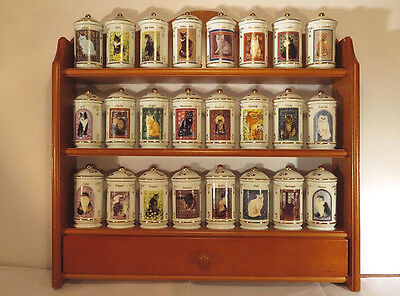 Lenox Cat Spice Jars Collection-Complete With Rack! Mint Never Used