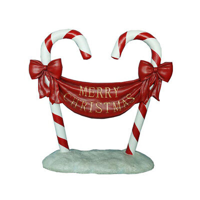 """Candy Cane """"Merry Christmas"""" Sign - 84cm"""