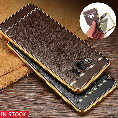 Samsung Galaxy S8 / S8+ Plus Luxury Leather Back Thin Slim Hard Skin Case Cover
